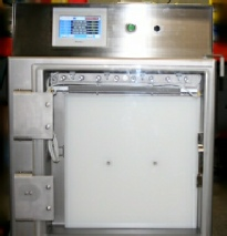 Vertical oriented vacuum heat sealer